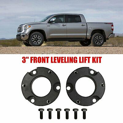 """3/"""" Front and 2/"""" Rear Leveling lift kit for 2007-2018 Toyota Tundra Black"""