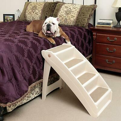 New X- Large Pet Dog Folding Stairs Tall High Bed Car Ladder Ramp Steps Portable