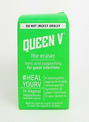 Queen V -The Eraser- Borric Acid For Yeast Infections 14 count