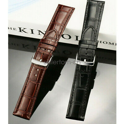 Universal 22mm 20mm Quick Release Crocodile Pattern Leather Watch Band Strap