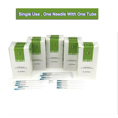 USA Ship 100pcs/box Disposable Acupuncture Sterile Needles one Pipe Single tube
