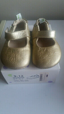 Girls Tip Toey Joey Shoes - Dolly, Gold - Size 9-12 months - Near New