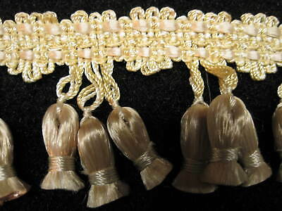 """Triple Toned Gold 3/"""" Beaded Fringe Trim Lion/'s Pride By The Yard"""