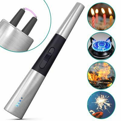 Windproof Electric Arc Lighter USB Rechargeable Flameless BBQ  Lighter Plasma