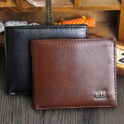 Mens Luxury Leather Trifold Wallet Credit/ID Card Coin Holder Purse Slim Wallet