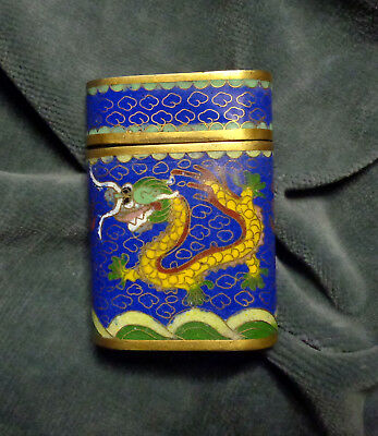 CINA (China): Old Chinese cloisonne box with dragon