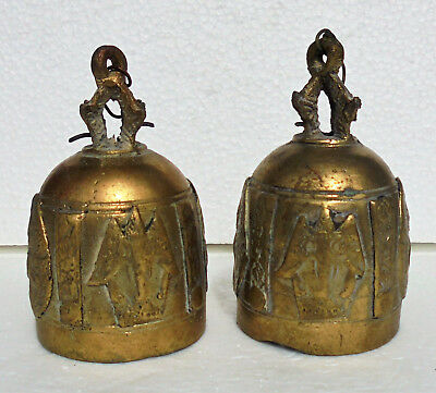 CINA (China): Pair of old Chinese bronze bell