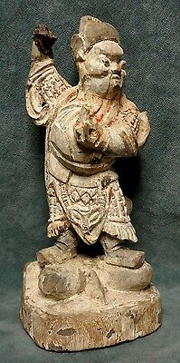 CINA (China): Old Chinese carved wood figurine
