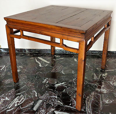 CINA (China): Old and fine Chinese game or tea wood square table