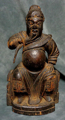 CINA (China): Ancient and fine Chinese figurine carved in wood