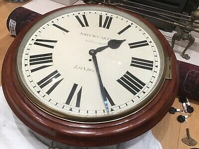Fabulous Large And Rare Antique Mahogany Fusee Dial Clock Famous London Maker