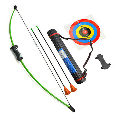 15lbs Children Bow Arrow Set Archery Recurve Bow Quiver Target Practice Gift