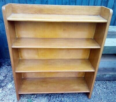 Antique / Vintage Freestanding Oak and Ply Backed Shelf 1940's / 50's