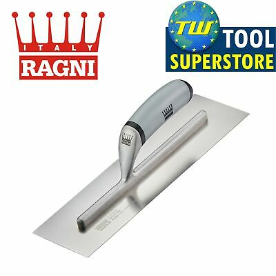 "Ragni 12"" Stainless Steel Hi - Lift Handle Cement Screeding Trowel - R625S-12HL"