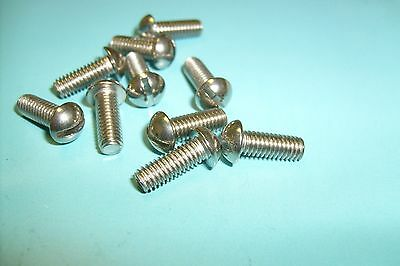 4BA x 1in Stainless Slotted Countersunk Screws