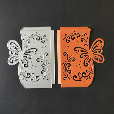 Scrapbooking Butterfly Envelope Metal Cutting Dies Stencil Greeting Card