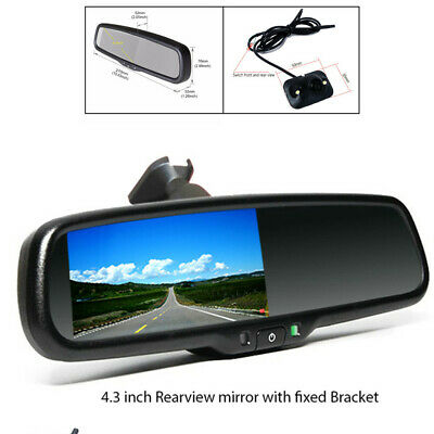 "4.3"" Auto Dimming TFT LCD Auto switch to Rear View Mirror Camera Night Vision"
