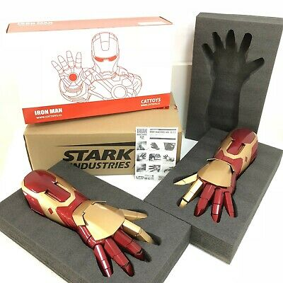 Cattoys 1:1 Tony Stark Iron Man MK42 Arm Laser Device Light&Sound Effect Hand