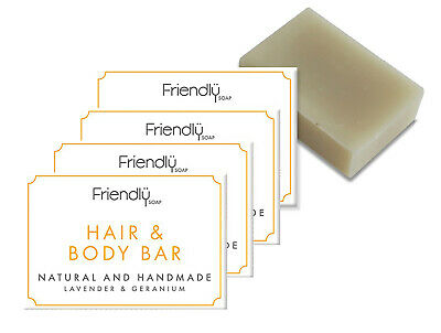 Friendly Soap Guest 2 In 1 Hair & Body Bar Soap 20g Four Pack