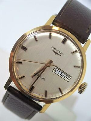 Vintage LONGINES Automatic DAY DATE Watch 1970s Cal. 507* MINT* SERVICED
