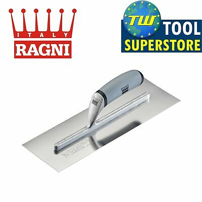 "Ragni 14"" Feather Edge Easi-Grip Stainless Steel Finishing Trowel - R618S-14"