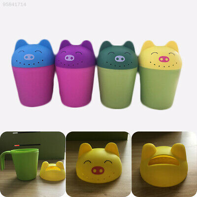 A151 Baby Shampoo Shower Spoon Rinser Cup Child Bath Wash Bear Random Color