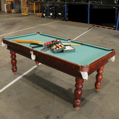 Timber Slate Top Pool Table and Accessories 2.2x1.13m PICK UP ONLY #209