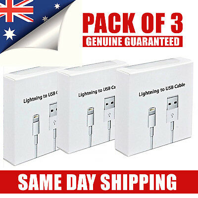3X iPhone 7 8 6 Plus X Charging Cable Cord Compatible for Genuine Apple iPhone