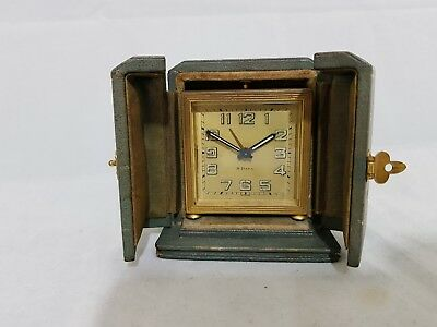 8 days alarm carriage or desk table watch clock with travel case