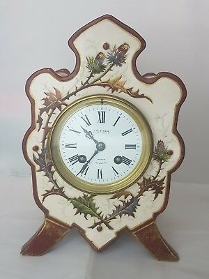 J.w. Benson London Japy Freres 8 Days Alarm Bell French Mantel Clock