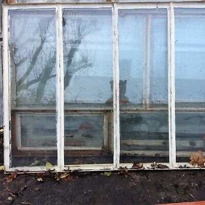 VINTAGE CRITTALL WINDOW  1930's Original Solid 4 Panel - Reclaimed