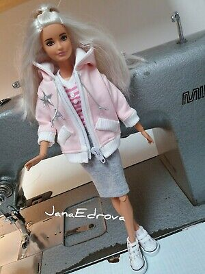 Pink Hoodie for dolls Barbie, Poppy Parker, fashion royalty
