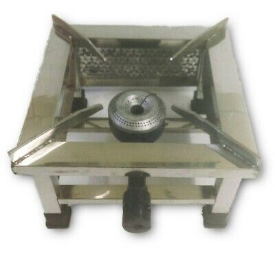 Steel Square Single High Flame Burner Commercial LPG Propane Gas Stove Cooktop
