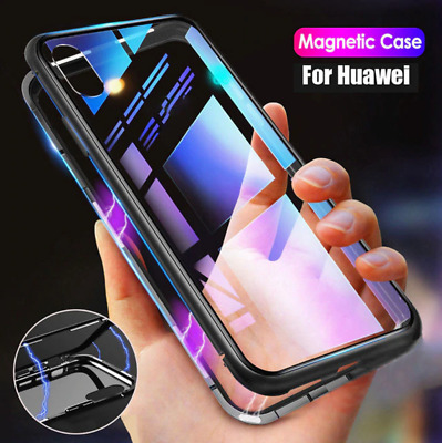 Huawei Mate 20 P20 P30 Pro Nova 3e 3i Magnetic Tempered Glass Phone Case Cover