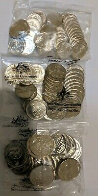 2016  5c 10c 20c Decimal Currency 50th Anniversary Changeover Mint Bags Set of 3