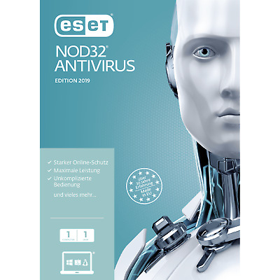 ESET NOD32 Antivirus 2019 Vollversion, 1,3,5 Geräte, 1, 2, 3 Jahre, Download/ESD