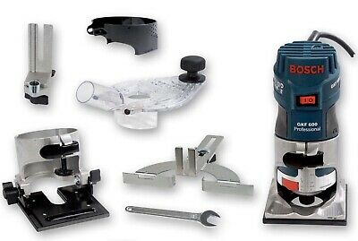 Bosch GKF 600 230v PALM ROUTER TRIMMER KIT (with extras) EXCELLENT CONDITION