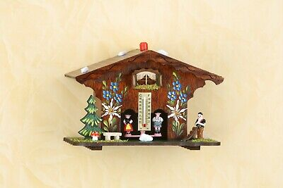 Chalet style traditional German Black Forest weather house Barometer