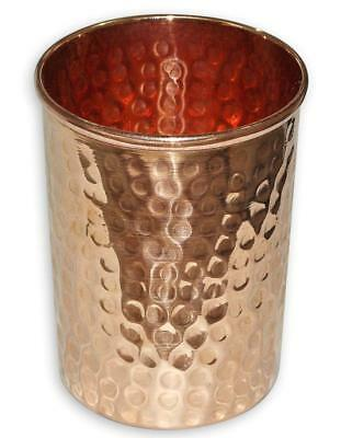 Hammered Glass Pure copper  Healing Ayurvedic tableware accessories 9.5 cm