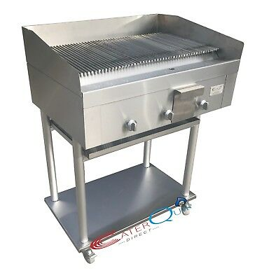 3 Burner Gas Charcoal Peri Peri Char Grill Bbq Heavy Duty For Commercial Use