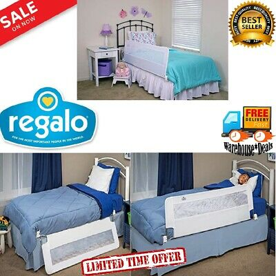 Regalo Swing Down 54-Inch Long Toddler Elderly Bed Rail Crib Child Safety Guard