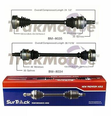 FOR BMW 325XI 330i 330xi 01-05 Pair of Rear CV Axle Shaft