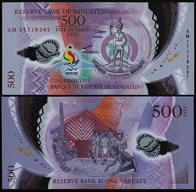 Vanuatu 500 Vatu (P New) 2017 (2019) Commemorative Issue Polymer Unc