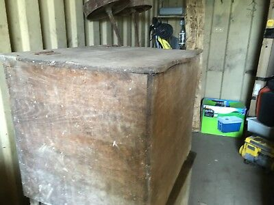 Large French Wooden Chest