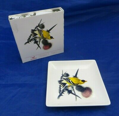 MAGPIE Trinket Tray depicting a Yellow Bird, ~ 13.3 cm x 13.3 cm, comes boxed