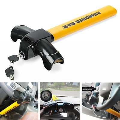 T Shape Anti-Theft Car Auto Security Protection Steering Wheel Lock Wide