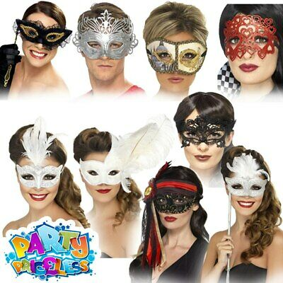 Milano Eyemask Fancy Dress Masquerade Ball Ladies Costume Adults Accessory Mask