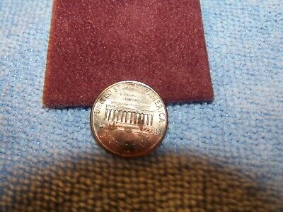 1996 D Lincoln Cent Error Coin Missing Copper Plating Reverse & Obverse