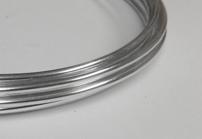 Aluminium Wire - 2mm x 4m (12 Gauge) - Crafts Sculpting Armature - 2 x 2m Pack