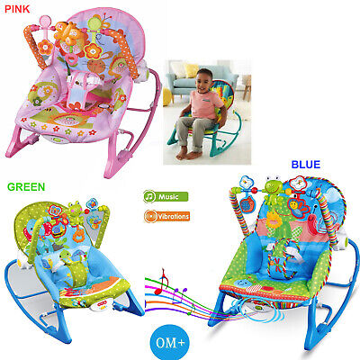 Baby Infant Rocker Bouncer Reclining Chair Music Melodies Soothing Vibration Toy